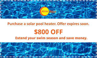 Purchase a solar pool heater and get $800 off. Offer expires soon.